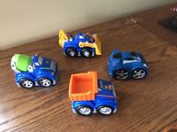 Mega Bloks First Builders trucks & race car