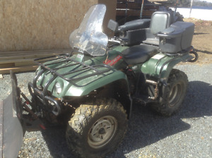 4 wheeler with plow