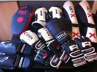 MMA BOXING KICK BOXING GLOVES PADS GUARDS JOBLOT