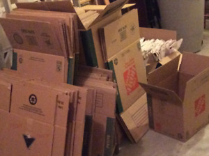 gently used cardboard moving boxes $35.00 OBO