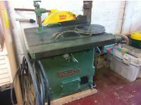 Wadkin rip saw woodworking table saw
