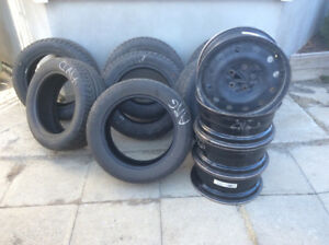205/55r16 Tires (4 winter, 3 summer and 4 rims)