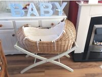 Mothercare Snug Noah Moses Basket & luxury stand