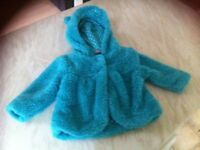 Baby girls flurry coat tu age 3-6 months good condition