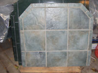 """Hearth 40"""" by 37"""" Real Tiles and Grout on Board Not used $30"""