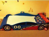 Toddler racing car bed x 2