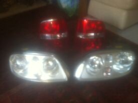 VW sharan headlights + rear lights
