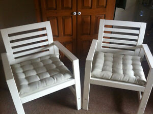 DINING CHAIRS WITH PADS - INDOOR/OUTDOOR