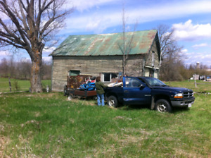 Building lot/Land, well, septic, electricity and barn