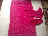 Saree with blouse used for sale £4