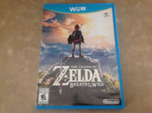 Nintendo Wii U,  jeu Zelda Breath of the Wild