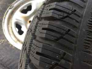 ARTIC CLAWS SNOW TIRES W/RIMS--- 2-ONLY Cambridge Kitchener Area image 3