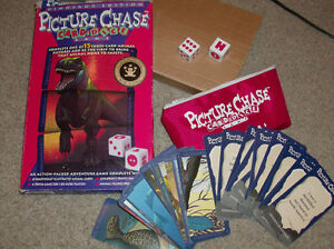 Dinosaur Edition Picture Chase Card & Dice Game- London Ontario image 1