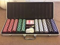 Poker set and table top