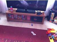 "Oak 50"" TV stand and storage unit"