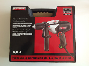 6.0 Amp 1/2 inch (13mm) Hammer Drill with 13 piece Drill Bit Set