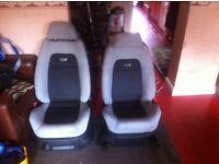 Skoda fabia vrs seats/ interior