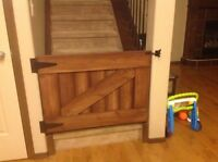 Barn style baby gate
