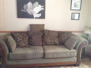 Couch with large size cushions
