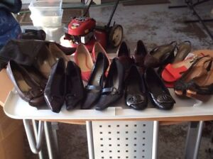 10 pairs Ladies shoes & 1 pair boots/ENTIRE LOT $50