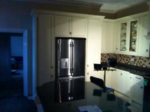 Kitchen Cabinets,Countertop,Backsplash,floor,Refinshing