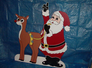 Hand-painted wooden Christmas lawn ornaments London Ontario image 5