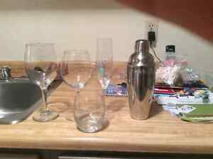 Dishes, glasses, Brita
