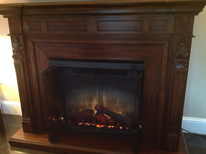 Dimplex Mantle & Electric Fireplace