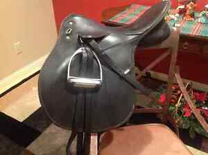 """Well loved 17"""" Wintec All Purpose Saddle"""