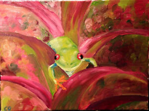 Tree Frog in a Flower