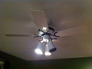"White ceiling fan 42"" with lights"
