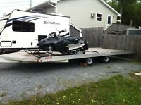 "4-place Aluminum Snowmobile trailer 102""x20'"