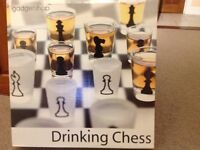 Drinking Chess Board and Shot Glasses