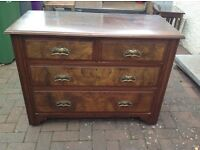 Antique Chest of 4 Drawers