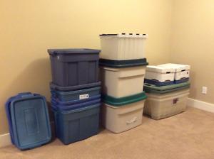 Rubbermaid Storage Boxes