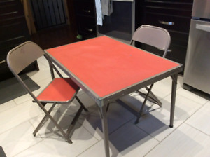 Vintage kids table and chair 70s