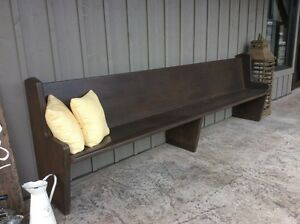 Refinished church pews