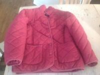 Girls spring or fall jacket. Quilted design. Size 8. $10.00