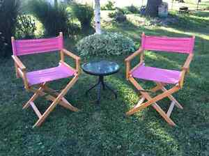 Director style lawn chair