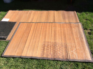 Outdoor bamboo rugs. Great for Rv use