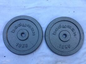 2 x 10kg Bodymax Standard Cast Iron Weights