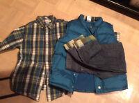 Ensemble Jeans, Chemise, Manteau de matque Gymboree - Gr. 9/10