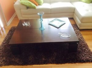 "COFFEE TABLE 47x35"" BON ETAT, VOIR PHOTOS"