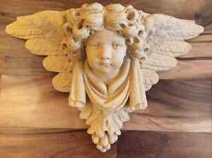 Two Stone Cast Angels ,large size from Germany very decorative