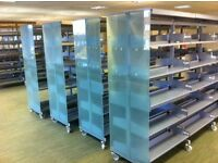 Shelving / mobile / double sided / can deliver and build