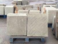 600 x 600 brick effect concrete paving slabs