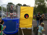 Fun fun fun dunk tank inflatables bouncers and mini donut rental