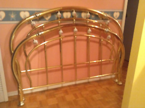 Queen Size Brass Headboard and Footboard