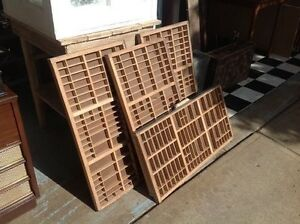 Vintage Printer Trays $60.00 each or all 4 for $200.00