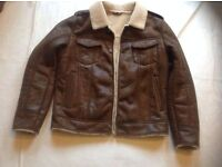 Men's sugar Ray jacket brown colour used size: S/M £5
